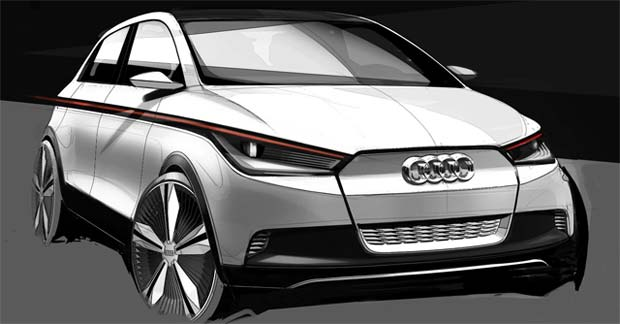 Audi A2 Electric Car Concept: 2011 Frankfurt Motor Show