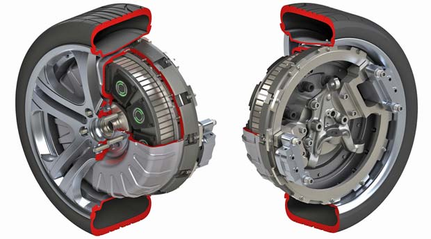 Protean 39 s in wheel electric drive earns most promising for Protean electric motor for sale