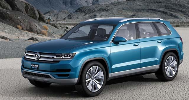 Volkswagen Crossblue Concept Suv Detroit Auto Show