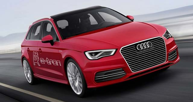Audi A3 e tron Top 7 Plug in Electric Cars For 2014