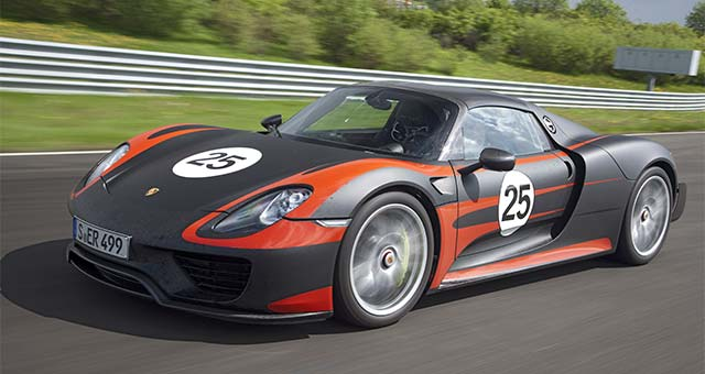 Porsche 918 Spyder Top 7 Plug in Electric Cars For 2014