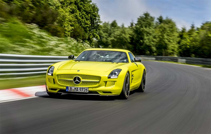Sls amg coupe electric drive sets nurburgring electric lap for Mercedes benz sls amg electric drive price