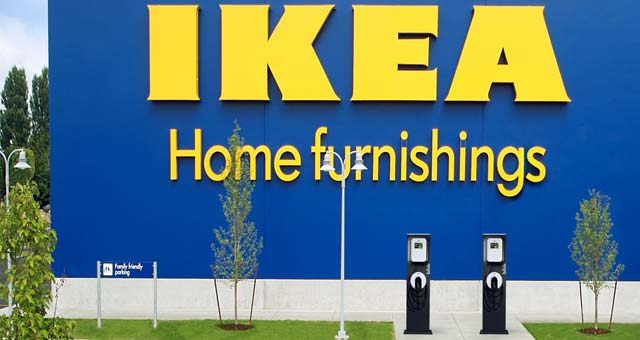 Ikea adds 24 more charge stations at 8 us locations for Ikea conshohocken pennsylvania