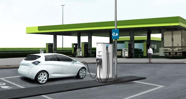 Electric Car Quick Charging Stations Images