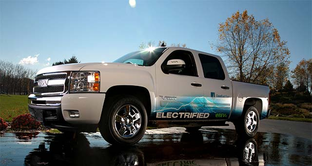 via motors launches production of chevrolet silverado erev truck