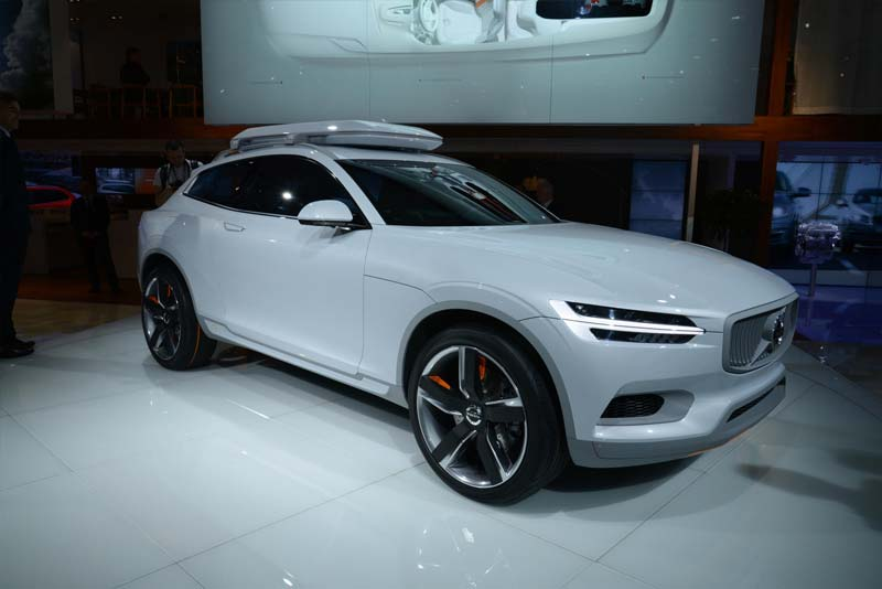 volvo concept xc coupe revealed in detroit electric cars report. Black Bedroom Furniture Sets. Home Design Ideas