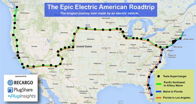 Record-Breaking Electric American Road Trip Crosses Finish Line