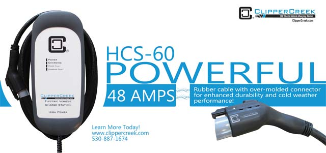 ClipperCreek Launches the HCS-60, High Power 240V 48Amp Charging Station