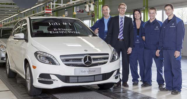 Mercedes-Benz B-Class Electric Drive Enters Production in Germany