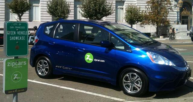 Zipcar Brings 2014 Honda Fit EV to UC Davis