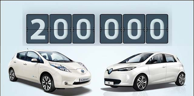 Renault-Nissan Alliance Sells Its 200,000th Electric Vehicle