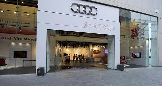 Audi Opens Pop-Up Store In London To Showcase A3 Sportback e-tron