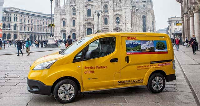 DHL Put 50 Nissan E-NV200 Electric Vans To Work In Milan And