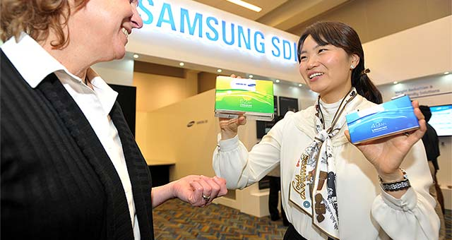Samsung SDI Shows Of EV Batteries and High-tech Materials in Detroit