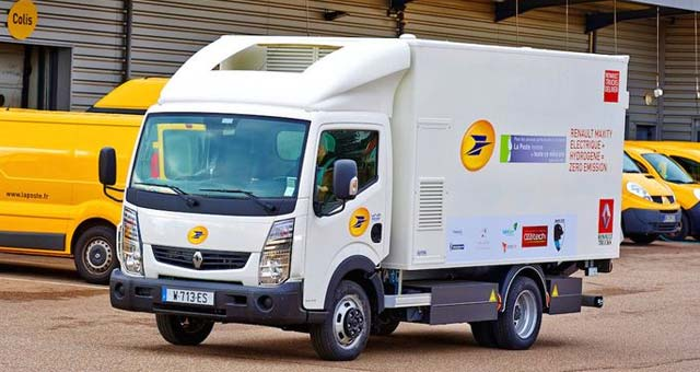 French Post and Renault Trucks to Test Electric Truck with Fuel-Cell Range Extender