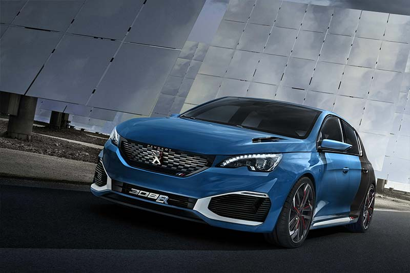 500hp peugeot 308 r hybrid phev concept revealed electric cars report. Black Bedroom Furniture Sets. Home Design Ideas