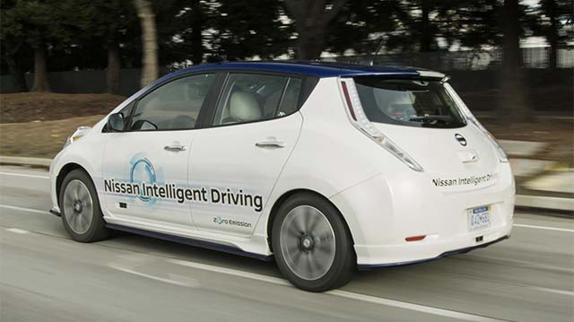 Nissan will test autonomous drive electric cars in London next month