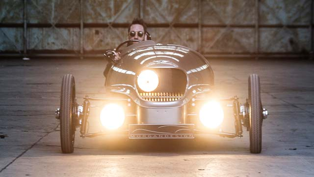 morgan ev3 electric 3 wheeler launched in geneva video