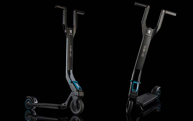 peugeot unveils e kick electrically assisted scooter. Black Bedroom Furniture Sets. Home Design Ideas