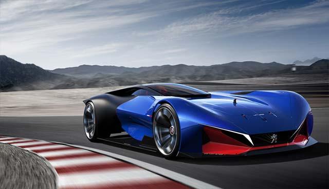 The Peugeot L500 R Hybrid Racing Car Concept