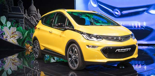 opel ampera e revealed in paris w videos. Black Bedroom Furniture Sets. Home Design Ideas