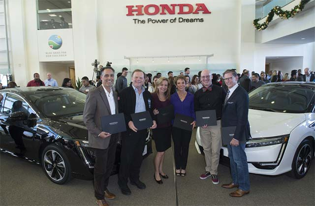 Honda begins deliveries of Clarity Fuel Cell sedan in Southern California