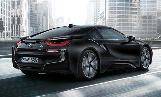 bmw i8 frozen black edition to debut in geneva. Black Bedroom Furniture Sets. Home Design Ideas
