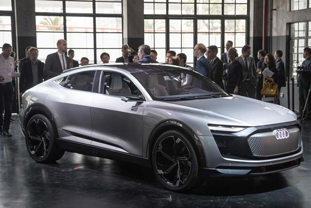 shanghai auto show all electric audi e tron sportback concept. Black Bedroom Furniture Sets. Home Design Ideas