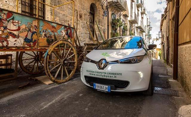 eco tour di sicilia with renault zoe electric cars e hike. Black Bedroom Furniture Sets. Home Design Ideas