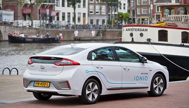 Hyundai Launches Pure Electric Car Sharing In Amsterdam