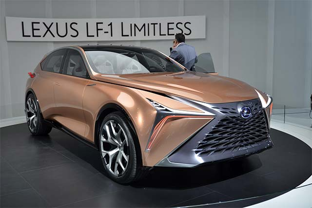 lexus lf 1 limitless concept debuts at detroit auto show. Black Bedroom Furniture Sets. Home Design Ideas