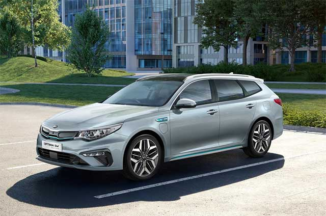 Kia Has Updated The Optima Sportswagon Plug In Hybrid For 2019 With A Completely Redesigned Lower Front Per Addition Of Led Daytime Running