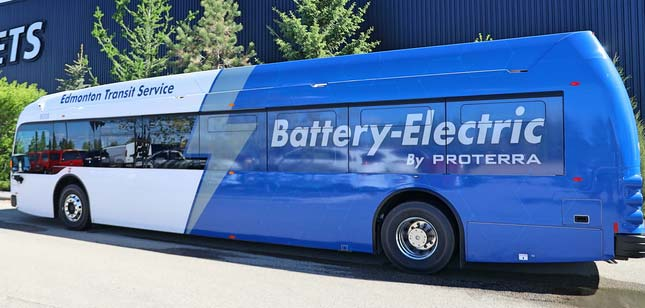 Edmonton Transit Service Receives First Fleet of Proterra Electric Buses